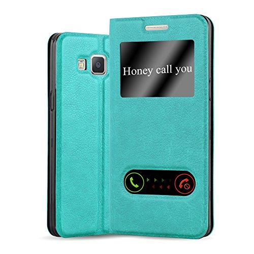 Cadorabo Custodia Libro per Samsung Galaxy A5 2015 in TURCHESE MENTA - con Funzione Stand e Chiusura Magnetica - Portafoglio Cover Case Wallet Book Etui Protezione