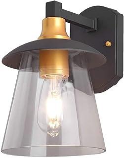 JJZXD Rustic Wall Candle Holder Wall Lamp, Modern Outdoor Wall Lamp Courtyard Garden Villa Corridor Lighting E27