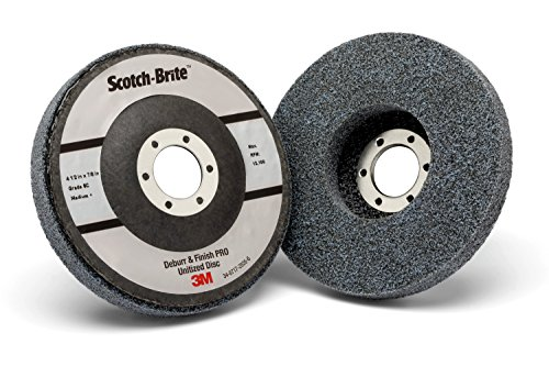 Scotch-Brite Deburr and Finish PRO Unitized Disc - Metal Deburring and Finishing Disc for Angle Grinder- Coarse Grit - Nonwoven 4.5