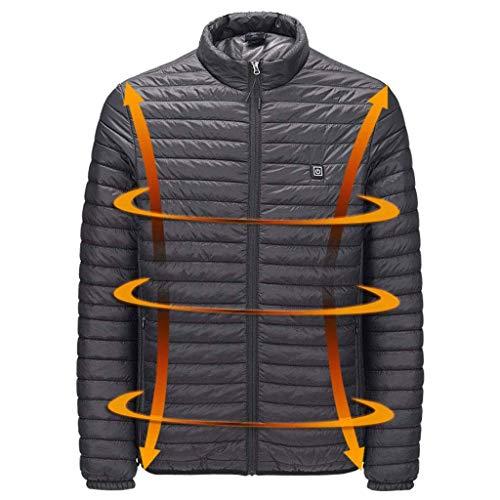 RHSMP Donsjack voor heren en dames, lichte USB-verwarming, winterjas, smart thermostaat, warme parka voor waterdicht (zonder mobiele voeding)