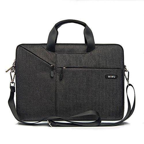 Laptop Schulter Tasche WIWU Umhängetasche/Laptoptasche für Laptop / Tablet mit Displaydiagonale 13.3 zoll mit Viele Fächer & Bequeme Trageschlaufe -Premium Herrentasche & Damen Handtasche