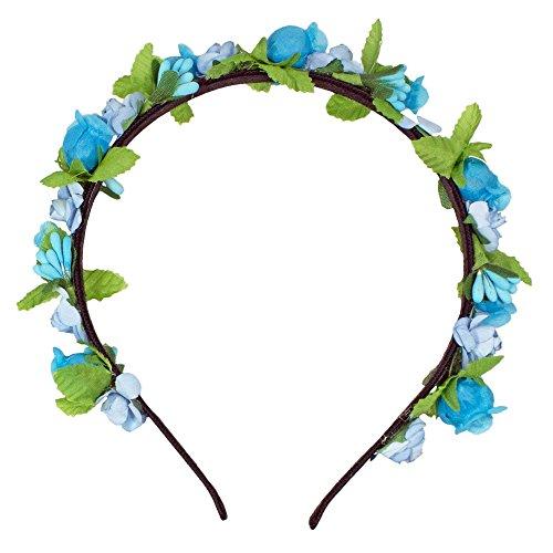 Trachtenland Blumen Haarreif Liliana mit Rosen - Türkis