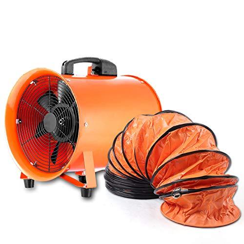 Ventilador portátil (520 W, 250 mm, 2800 r/min, manguera de PVC de 10 m)