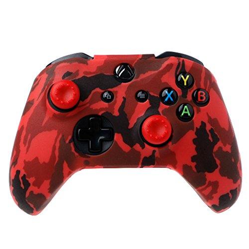 FXCO - Cover per Gamepad in silicone, motivo mimetico, con 2 tappi per joystick