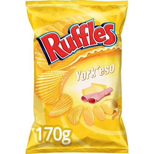 Ruffles - Patatas Fritas con Sabor a Jamón y Queso - 170 gr