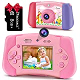 Kids Camera Toddler Toys Girls - Prograce Selfie 12M Front and Rear Dual Cameras Kids Video Camera Children Digital Camera Age 3 4 5 6 7 8 9 10 11 12 Years Old Toys Gifts