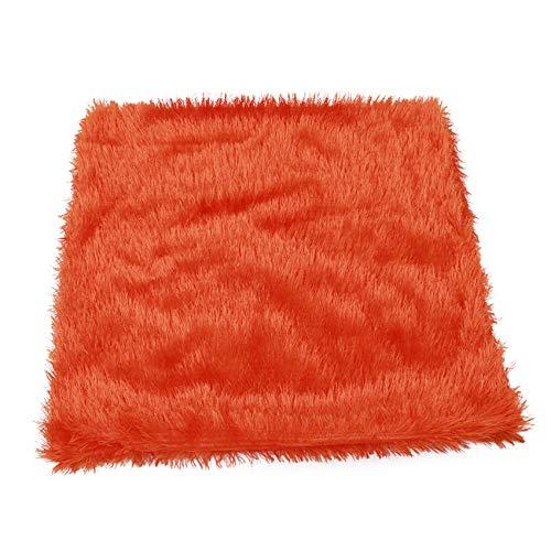 SHISIDE クッションカバー ソファ背当て 抱き枕カバー ふわふわ 防寒対策 柔らかい オレンジ