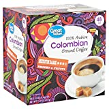 Great Value Medium Roast Single Serve Coffee Cups, 100% Colombian, 48 Ct (Pack of 2)