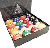 JAPER BEES Deluxe Billiard Ball/Pool Ball Set Complete 16balls Regulation Size&Weight Resin Ball …