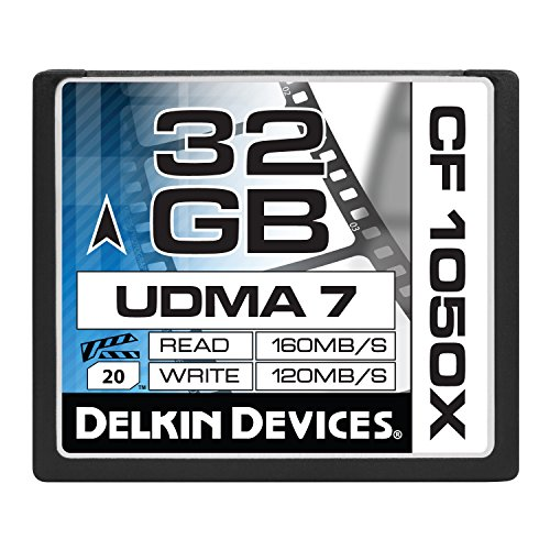 Delkin 32 GB CF 1050X UDMA 7 Cinema Memory Card (DDCF1050-32 GB)