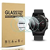 Diruite 4-Pack for Garmin Fenix 5 Tempered Glass Screen Protector for Fenix 5 [2.5D 9H Hardness] [Anti-Scratch] [Bubble-Free] (Not Fit for Fenix 5 Plus)