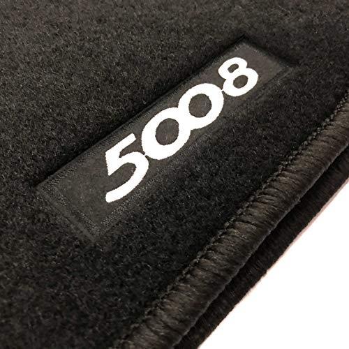 Alfombrillas Peugeot 5008 7 plazas (2009-2017) a Medida Logo | Rey Alfombrillas®