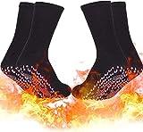 ZJLA Calcetines térmicos, calcetines térmicos, calcetines magnéticos, calcetines de turmalina, calcetines de terapia magnética, calcetines de pie calientes anticongelación