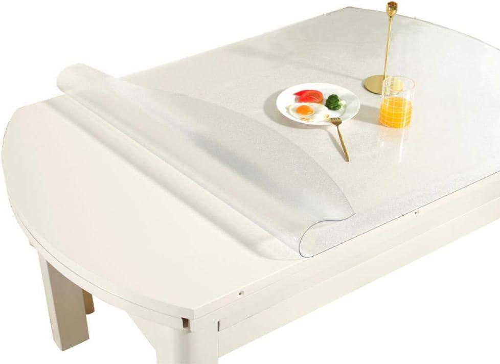 Sonze Mantel Hule de Vinilo de PVC,Mantel Lavable diseño Patchwork,Tapete de Mesa Ovalado, Mantel desechable Anti-Quemaduras de PVC-Mate 2.0mm_93 * 150cm