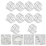 OUNONA 10 Stücke Spirale Serviettenringe für Zuhause, Küche, Esszimmer (Silber) - 9
