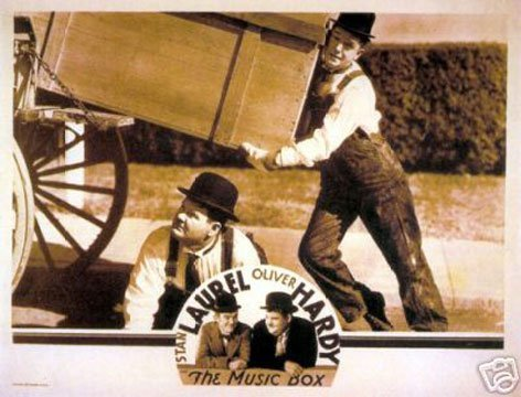 Hot Stuff Enterprise 5910-12x18-LM The Music Box Laurel and Hardy Poster by Hot Stuff Enterprise