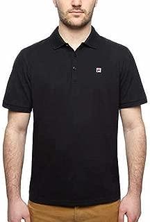 Fila Men's Solid Color Short Sleeve Logo Polo Shirt