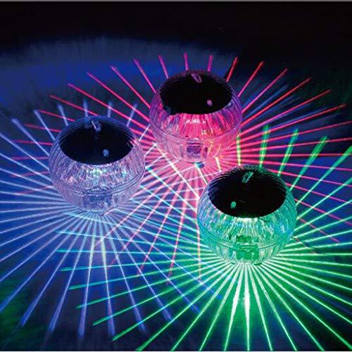 1 Stück Solar Schwimmendes Licht, Farbwechsel Magic Ball Solar Teich Licht, LED Garten Pool Licht, Teichbeleuchtung Pool dekorative Lichter Solar Pool Licht Solar schwimmende Poolleuchten Solarlampe