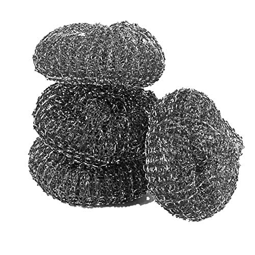 Pine-Sol Heavy-Duty Stainless Steel Scrubbers | Won't Rust or Splinter | Scrub Sponges for Cast Iron, Oven Racks, Grills, 4 Pack
