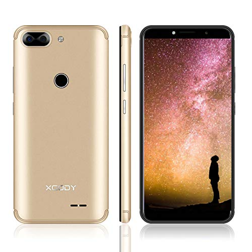 XGODY 3G GSM Unlocked Cell Phones 5.5' inch 18:9 IPS Screen Display 5MP Dual Camera Global Band for T-Mobile/AT&T/MetroPCS 8GB Android 7.0 (Gold, 5.5 inch)