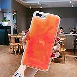 XLSJK Carcasa de Telefono Estuche Luminous Neon Sand para Samsung Galaxy S8 S9 S10 S10E e Plus Note8 Note 9 10 10+ Brillo en la Oscuridad Brillo líquido Quicksand Cubierta del teléfono