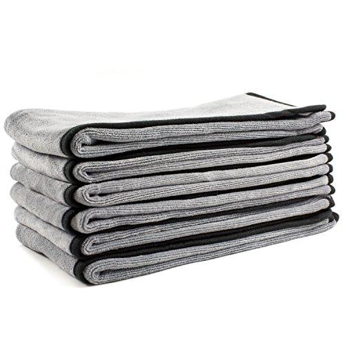 Zwipes Auto Microfiber Premium Plush Cloths, 16-in x 24-in, 6-Pack