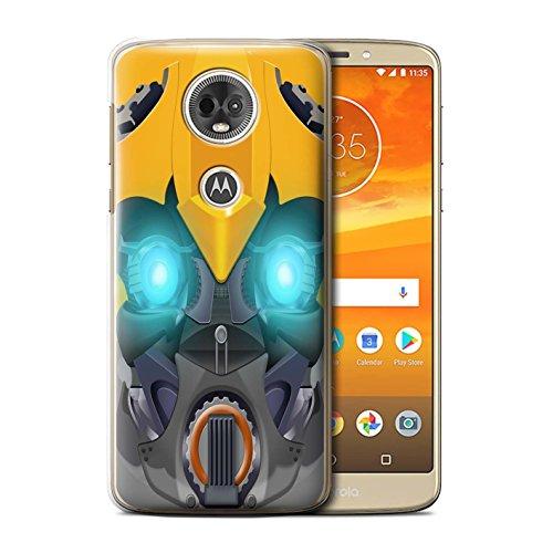 Stuff4 Phone Case/Cover/Skin/Motorfiets-CC/Robots Collection Motorola Moto E5 Plus 2018 Bumble-Bot Jaune