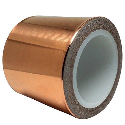 Kupfer Klebeband Mit Leitfa?higem Kleber Selbstklebendes Kupferfolienband 50 mm X 20 m Zur Schneckenabwehr, EMI- Und HF-Abschirmung, Elektrische Reparaturen