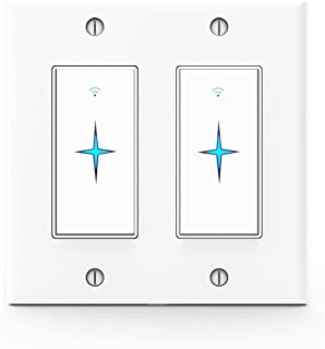 Double Smart Switch that Work with Alexa, Google Home, IFTTT, Voice and Wireless