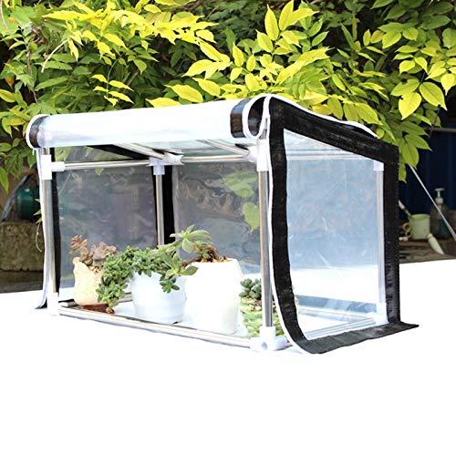 MAHFEI Invernadero Pequeño, Mini Invernadero con Cubierta Transparente Portátil Casa De Flores con Puertas con Cremallera Jardinería Planta Flor para Protección contra El Frío