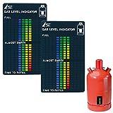AGT Gasstandanzeiger: 2er-Set Gasstand-Anzeiger für Gasflaschen, 22-stufige Skala (Füllstandsanzeige Gasflaschen)