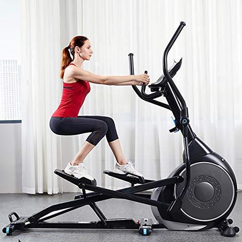 YAMMY Professionelle Mute Elliptical Cross-Trainer, 32 Trainingsprogramme Cardio Home Office Fitness Workout-Maschine Geeignet Für Alle Altersgruppen Max Benutzergewicht 150 Kg