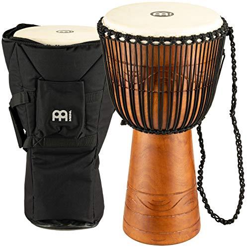 Meinl Percussion ADJ2-L+BAG - Djembe, collezione Water Rhythm, misura grande (12'/30,48 cm), custodia inclusa, colore: Marrone