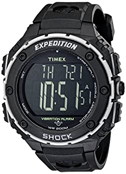 Digital Timex watch with an all-black design