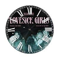 壁掛け時計 静音 おしゃれ 掛け Lovesick Girl 時計 連続秒針 グレー 自宅 寝室 子供部屋 学校 り贈り物に です最適です 25 Cm 北欧 装飾