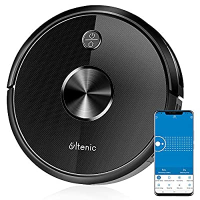 Ultenic D5 Robot Vacuum Cleaner, Wi-Fi & Alexa Control, 2200Pa Max Suction, Super-Thin, 500ML Large Dustbox, Self-Charging Robotic Vacuum Cleaner, Boundary Strips, for Pet Hair Carpets Hard Floor ¡