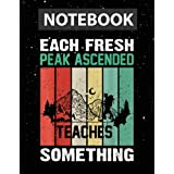 Teacher Ascend Retro Vintage Outdoor 70's 60's Outdoors Notebook Jounal Lined / 130 Pages / Large 8.5''x11''