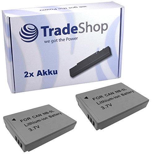 2x Hochleistungs Kamera Li-Ion Akku für CANON DIGITAL IXUS 100 IS 870 IS 990 IS 100IS 870IS 990IS POWERSHOT SD900Ti SX120 IS SX210 IS SX220 HS SX230 HS SD-900Ti SX-120 IS SX-210 IS SX-220 HS SX-230 HS