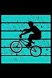 BMX Blauer Hintergrund Bar Turn 180 360: DIN A5 Liniert 120 Seiten / 60 Blätter Notizbuch Notizheft Notiz-Block Fahrrad BMX Motive & Geschenke