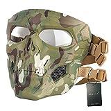 WISEONUS Airsoft Táctico Skull Messenger Masks Equipo de protección Máscara Facial Completa para Caza de Halloween Paintball CS Wargame