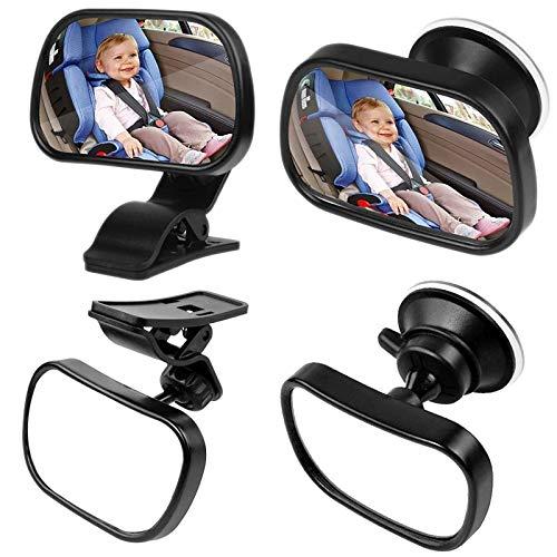 Espelho Retrovisor para Bebê bebê vista de carro do bebê ajustável espelho retrovisor Espelho Back Seat traseira virada Criança ajustável Espelho Retrovisor Espelho Retrovisor 2 Em 1 Safe Travel