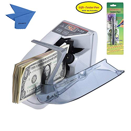 Aibecy Mini Portable Handy Bill Cash Banknote Counter Money Currency Counting Machine AC