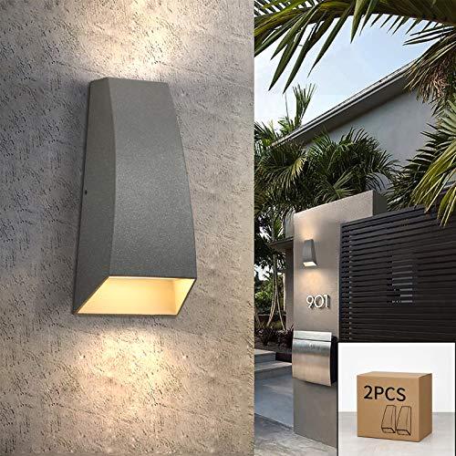 ZMH 2 piezas LED apliques de pared interior/exterior up down