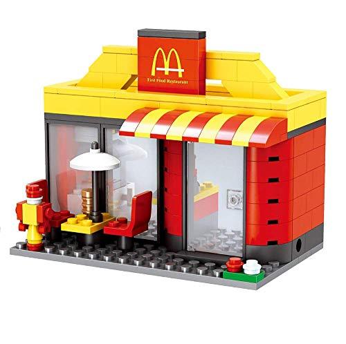 Modbrix City Bausteine BurgerLaden, 192 teiliges Konstruktionsspielzeug