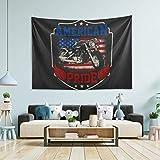 BGDFN Tapiz para colgar en la pared, decoración de la habitación, bandera americana de la bici, tapiz de pared grande para dormitorio, tapices de pared, cocina, 200 x 152
