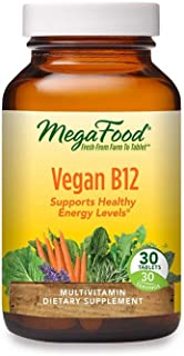 MegaFood, Vegan B12, Helps Support Healthy Energy Levels, Daily Multivitamin Dietary Supplement, Non-GMO, 30 mini-tablets ...