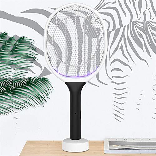 youngfate Elektrische Fliegenklatsche Extra Stark Aufladbar USB Fliegenfänger Moskito Zapper Insekten Mörder Mückenklatsche 2020 Neue Zwei-in-Eins-Schädlingsbekämpfungsfalle