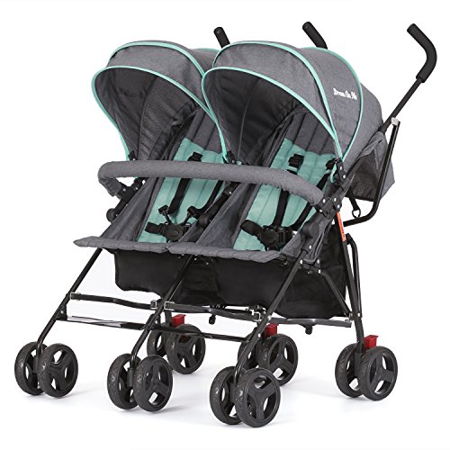 Dream On Me Volgo Twin Umbrella Stroller