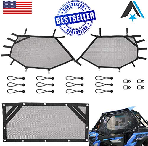 Arsenal RZR Window Race Net,Kit UTV Roll Cage Driver and Passenger Front Mesh Guard and Rear Roll Cage Shade Shield Cover Net Fits: RZR 570 800 S 800 900 (3 PC Kit)