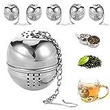 6 Pièces passoires à thé rondes,boules d'épices durables,farce...